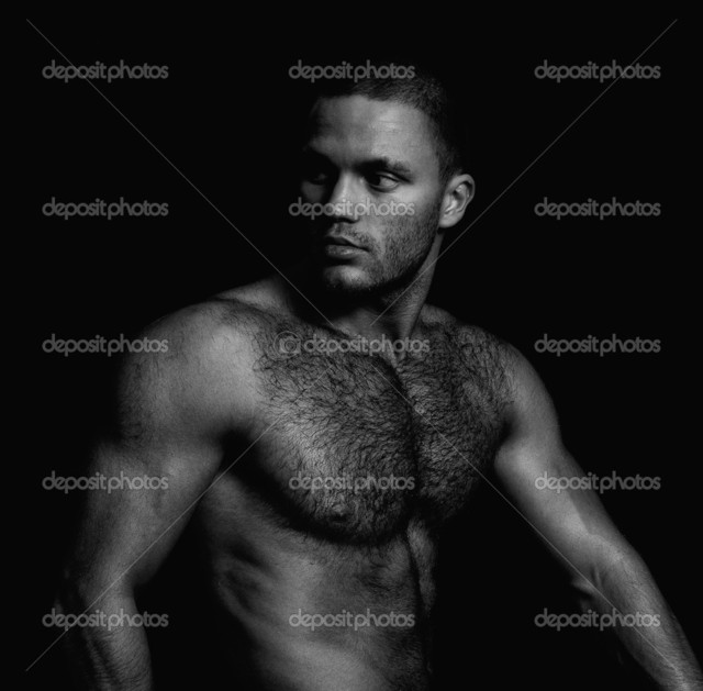 naked muscular guys black naked white muscular photo guy handsome depositphotos portrait stock