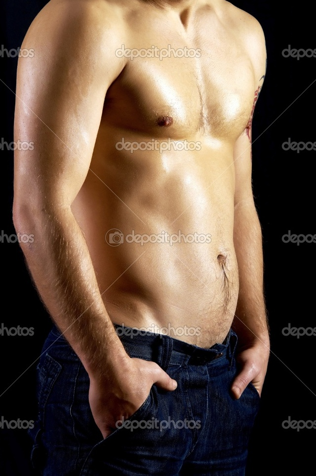 naked muscular guys naked muscular photo model male jeans depositphotos stock