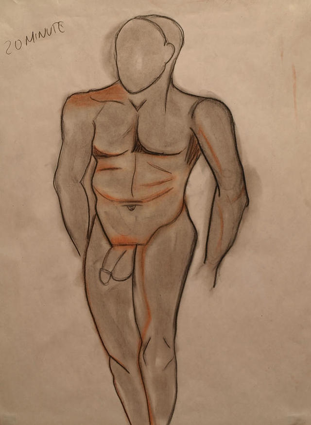 nude male photos male nude large featured drawing medium teri schuster