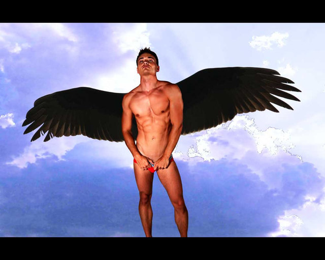 nude muscular males muscular male angel dark fullxfull listing sixpack