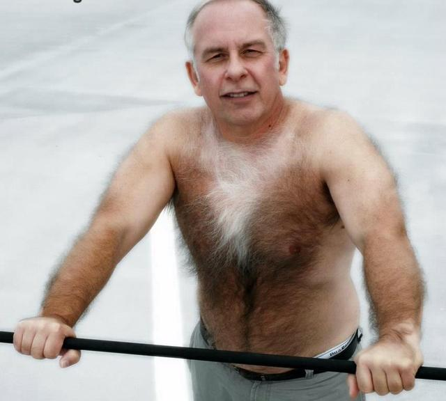 Older hairy gay man