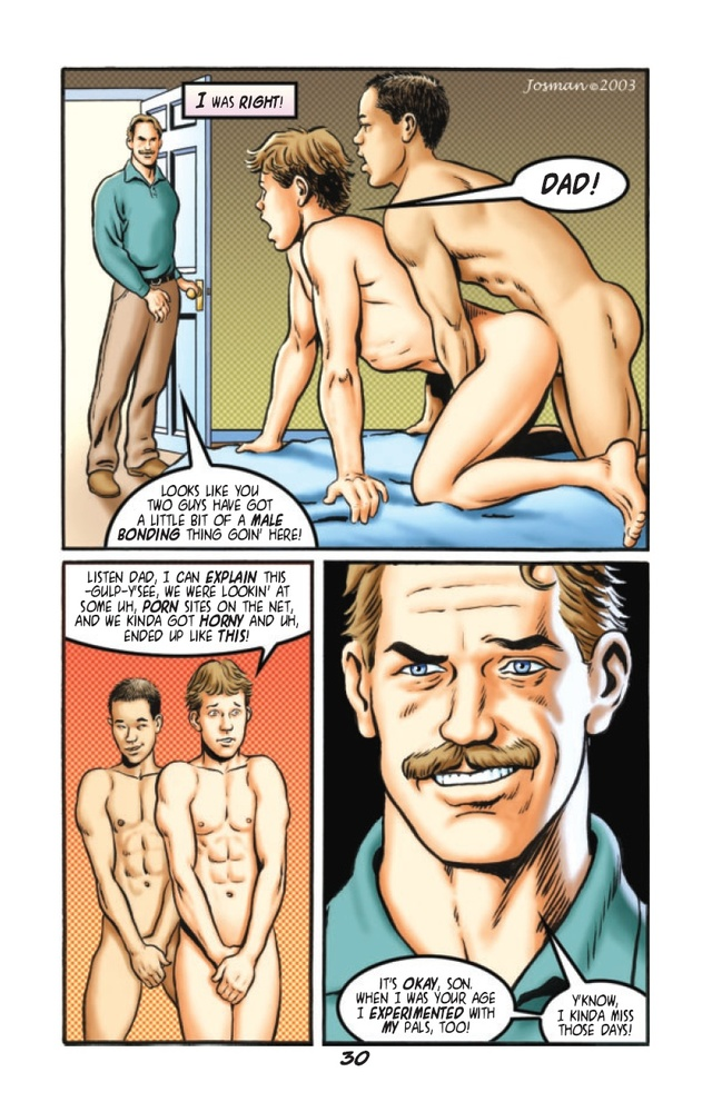 porn gay comic gay sons tales erotic comic son incest father fathers drawn josman further