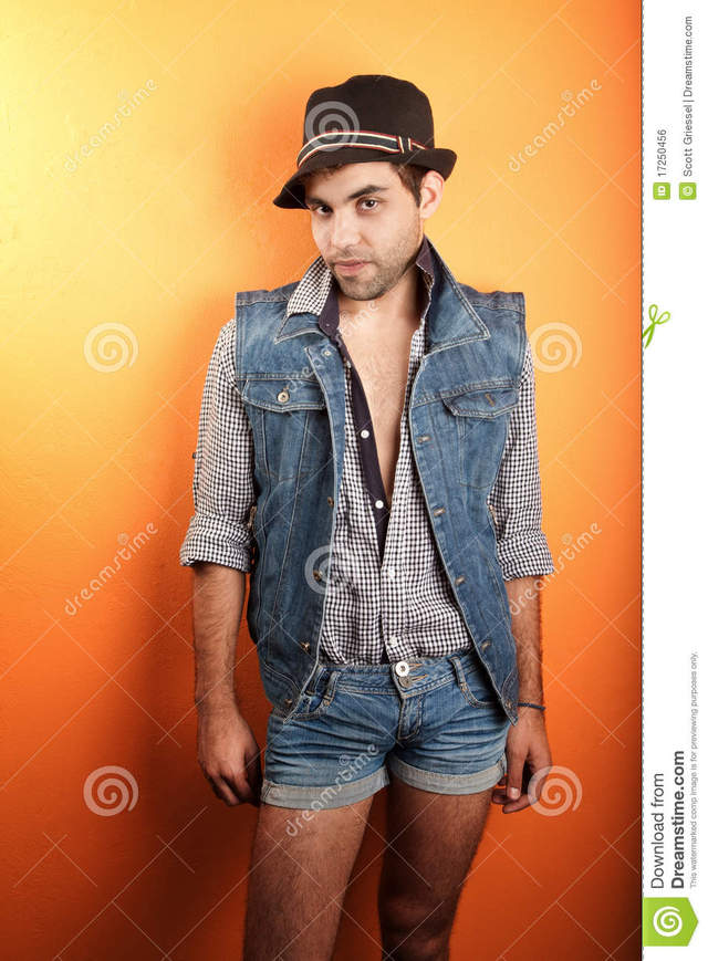 sexy gay man pic gay man sexy free jeans hat stock royalty