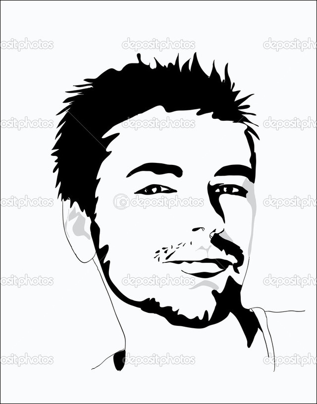 sexy pics man young man sexy depositphotos portrait stock illustration