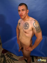 Amateur Gay Porn boy ray sosa uncut cock latino marine masturbating amateur gay porn shows his tatts jerks