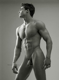 full frontal Male Porn philip fusco naked nude penis frontal striking posers historys hottest