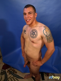 Gay Amateur Porn boy ray sosa uncut cock latino marine masturbating amateur gay porn shows his tatts jerks