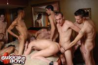 Gay sex parties obedient gay slave his ass probed anal hook inserted back private party