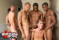 Group Gay sex submissive gay slave sucks off dicks once being petted head rough group