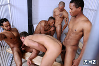 Angyl Valantino Gay Naked rocco reed jizz orgy fantasy gangbang gay porn had dream about four flopping black dicks banging his straight ass