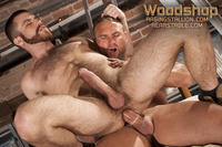 Hardcore Gay Pics trent locke tom wolfe hardcore gay porn star action woodshop jockstrap tight hairy ass beard muscular boots masculine passionate fuck guys fucked