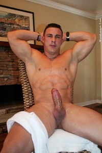 Hunks Gay Porn adam santos latino muscle hunk shower
