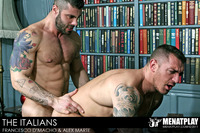 Hunks Gay Porn muscle hunk gay porn star francesco dmacho beefy tattooed alex marte suck cock eat ass fuck italians from men play pic
