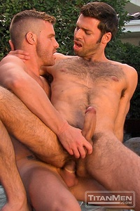 Hunks Gay Porn dario beck landon conrad titan men gay porn stars rough older anal muscle hairy guys muscled hunks gallery video photo