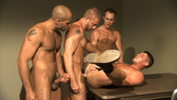 Hunter Marx Porn muscle hunks troy daniels leo forte jayden grey hunter marx more suck cock fuck gay group orgy inmates titan men pic