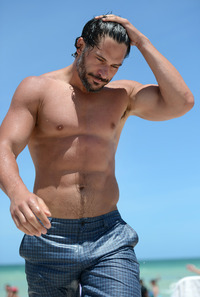 Joe Manganiello Porn joe manganiello shirtless half naked abs treasure trail pecs torso beard wet beach scruffy promoting magic mike looking hot popular demand week celebs masturbating incessantly parolehim