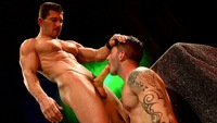 Johnny Hazzard Porn hung muscle hunk david anthony fucks ripped stud johnny hazzard head trip from titan men pic