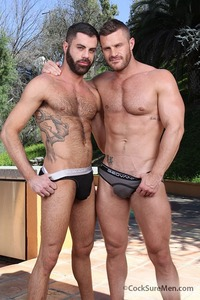Landon Conrad Porn landon conrad marcus isaacs cocksure men cock buffet brought cum holes guys out sweatpants