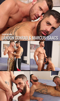 Landon Conrad Porn collages cocksuremen landon conrad marcus isaacs fucks