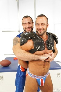 Athletic Man Gay Porn nate karlton spencer reed bound jocks nasty pig jockstrap gay porn teasing torture bondage scruffy muscle bear masculine rough punching abs blowjob sucking rimming blindfold muscular football gear athletic hot