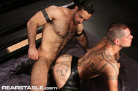 Logan McCree Porn hairy muscle hunk adam champ tattooed stud logan mccree trade blow jobs fuck rear stable pic
