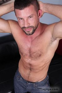 Marc Scalvo Porn kyle king straight guys gay eyes porn star hairy scruffy beard facial hair jerking off cock ring stroking solo furry sexy ass butt dick