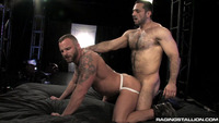 Adam Champ Porn hairy muscle stud adam champ hung hunk derek parker suck cock fuck explosive from raging stallion studios pic