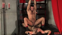 Adam Champ Porn jessy ares adam champ colt studio armour gay porn star hairy man flipping out versatile