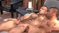 Adam Champ Porn hairy muscle hunks adam champ bronson suck off each others hard cocks fuck ridge from colt studio group pic
