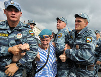 Military Gay Pics afp getty russian paratroopers attack gay rights activist