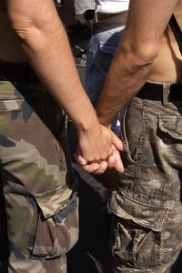 Military Gay Pics gay military couple hand holding openly applicants will