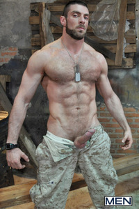 Military Gay Porn damien crosse scott carter sergeants orders military themed hardcore scene gay porn drill hole thank cock its friday