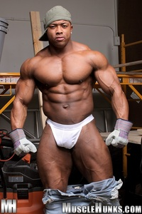 Muscled Gay Porn muscle hunks ron hamilton naked black bodybuilder ripped body stud gay porn movies here hunk