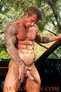 Muscled Gay Porn bodybuilder gay porn icon mark dalton shows off his muscle hunk body jacks cock paragon men pic