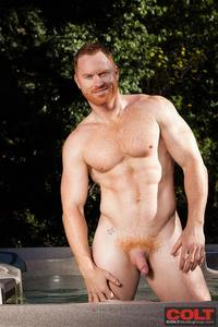 Muscled Gay Porn colt seth fornea hairy redheaded muscle hunk jerkoff amateur gay porn newest model redhead stud jerking off