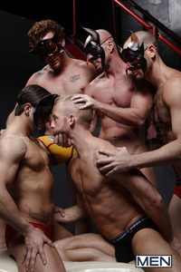 Phenix Saint Porn christopher daniels phenix saint mitch vaughn micah jones cole streets masked man orgy