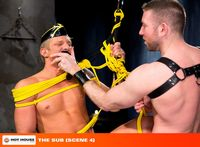 PhillipAubrey Porn leather muscle hunk rick van sant sucks off fucks ripped stud phillip aubrey sub from hot house pic