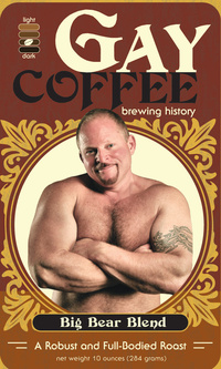 Bears Gay Pics gaycoffee label bigbearblend gay coffee launches bear blend