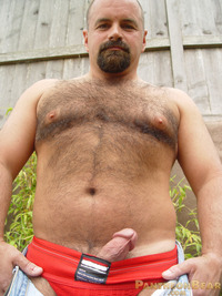 Bears Gay Pics dave pantheon bear hairy goatee sexy hot ass jockstrap cock ring football jersey beefy stocky gay porn paw tattoo boots jeans pussy