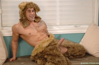 Samuel O'Toole Porn samuel otoole gay porn mascot costume furry bear cock huge dick stripping down bearly fur real stroking jerking off hilarious butt ass