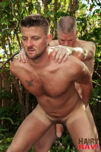 Bears Gay Porn hairy raw christian matthews alex powers daddy bears barebacking outside amateur gay porn barebacks his younger friend backyard