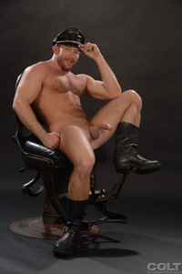 Shay Michaels Porn hairy muscle stud shay michaels gets fucked nate karlton manpower samuel colt uniform men from studio group pic