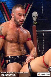 Spencer Reed Porn hairy muscle hunk spencer reed smooth stud marc dylan suck cock fuck sektor from hot house pic