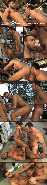 Stany Falcone Porn collages titanmen stany falcone brad kalvo titan mens down dirty
