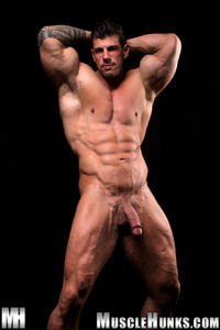 Ben Savage Gay Nude bodybuilder gay porn stud zeb atlas strips naked strokes his hard cock unzipped muscle hunks pic