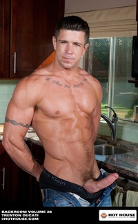 Trenton Ducati Porn alex andrews trenton ducati hothouse ripped muscle bodybuilder strips naked strokes his hard cock photo
