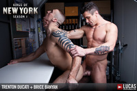 Trenton Ducati Porn lvp trenton ducati bruce banyan lucas entertainment kings york brice banyon takes hung muscle cock from