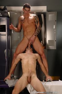 Tyler Torro Porn tattooed muscle hunk tyler torro sucks cock fucks muscular mohawk stud adam wirthmore gym locker room next door buddies pic