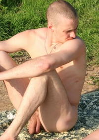uncut cocks hotblog kneeling nudist guy sitting thick cock