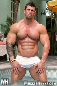 Zeb Atlas Porn zeb atlas naked bodybuilder muscle hunks ripped strips strokes his hard cock photo